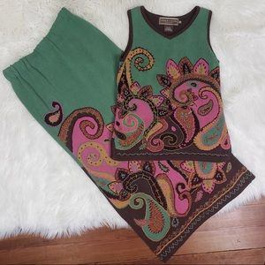 DOUBLE D RANCH 2 pc. Pencil maxi skirt and top XS